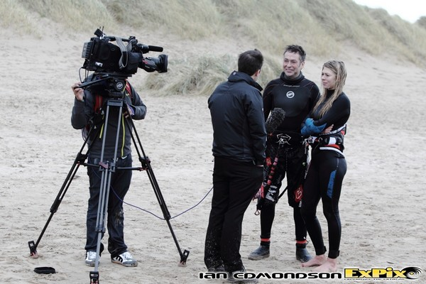 ExPix arrange TV coverage for kitesurf team rider Hannah Whiteley on BBC