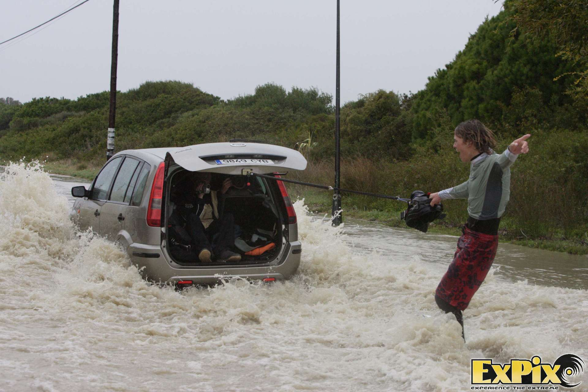 Lewis crathern wakeboarding a flood