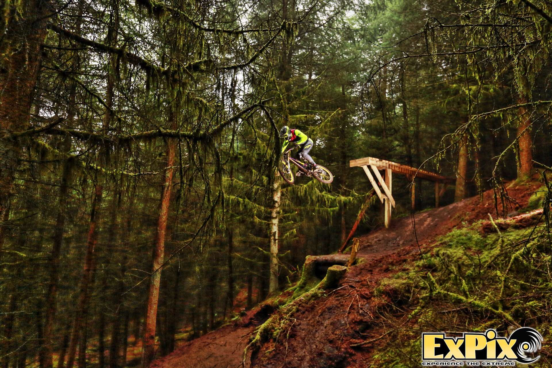 Valhala trail drop in at Havok BikePark