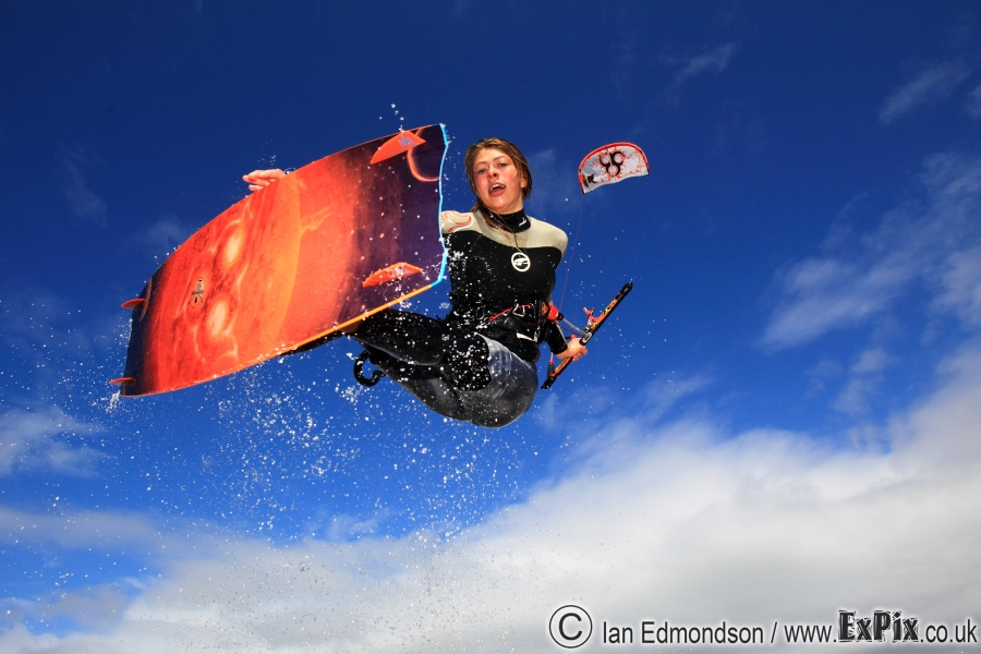 Hannah Whiteley Kitesurfing at St Annes