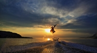 Wakeboard,boat,Scotland,Sunset,Scottish_