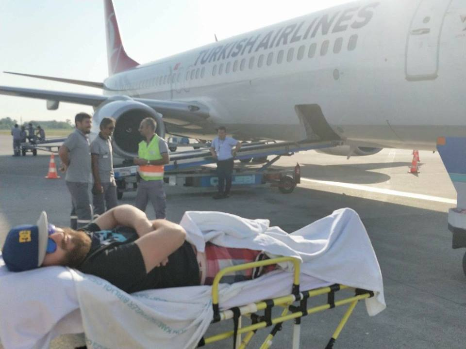 Paraglider Dave Roberts being repatriated for medical treatment