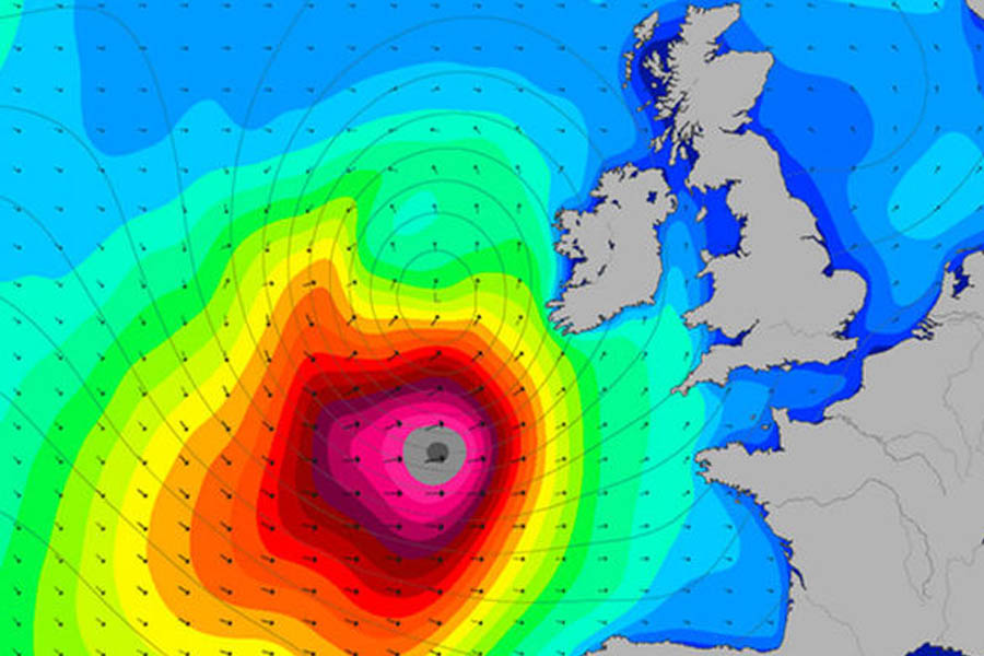 Storm Brian Weather Map