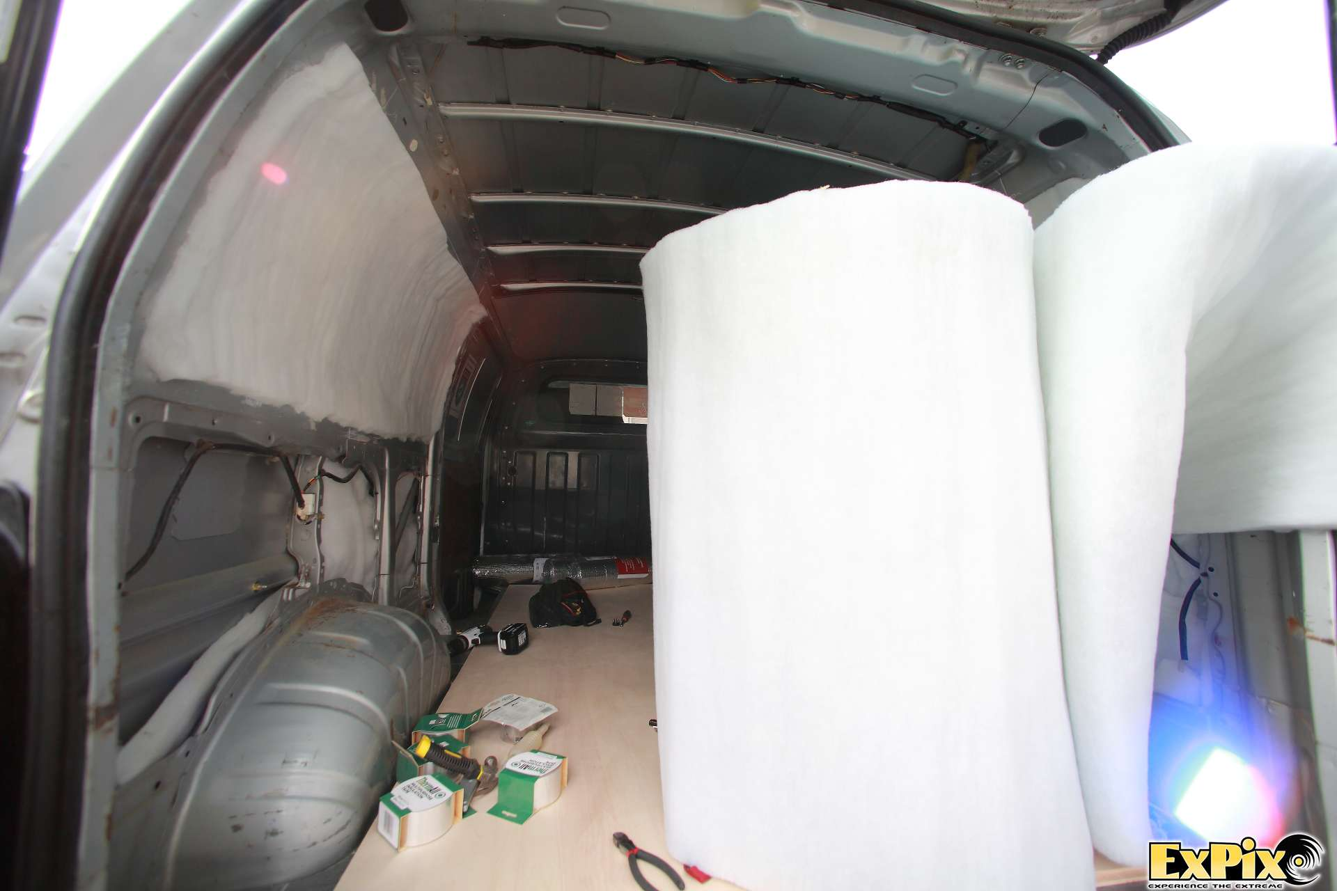 Dacron Thermal insulation for the ExPix Van